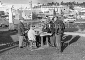 Domino players, Cessnock. NSW, 1964.