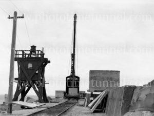 Construction work on Nobbys breakwater, Newcastle, NSW, June 23, 1939.