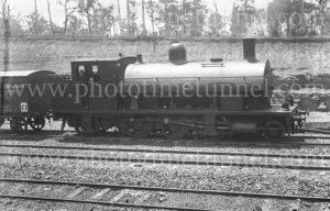 Steam locomotive at Hanbury Junction, Waratah, (Newcastle), NSW, 1914.