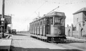 Electric tram at Waratah terminus, Newcastle, NSW, December 30, 1947. (2)