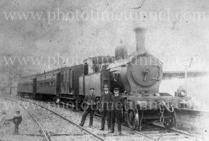 Z11 steam locomotive at East Maitland, NSW, circa 1914.
