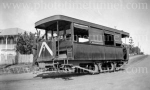Tram at Rockhampton, Queensland, August 17, 1947.