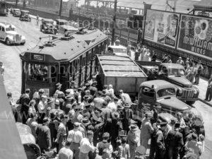Collision between a tram and a truck, Scott Street, Newcastle, NSW, December 5, 1947. (4)