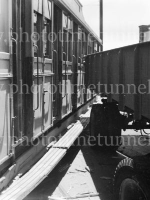 Collision between a tram and a truck, Scott Street, Newcastle, NSW, December 5, 1947. (7)