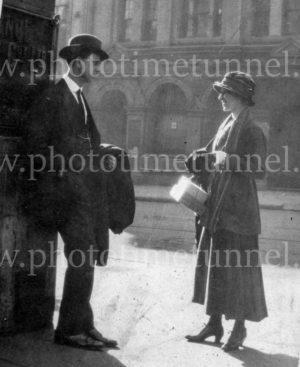 Couple in Sydney on Armistice Day, November 11, 1918.