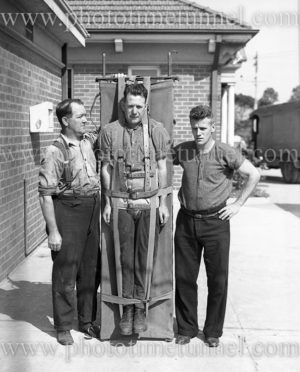 Training at Boolaroo mines rescue station, NSW, December 23, 1937.