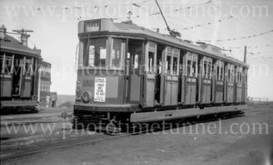 LP electric tram at Parnell Place, Newcastle, NSW, December 26, 1947.