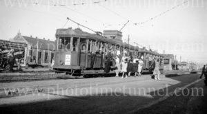 Tram in Tudor Street, Hamilton (Newcastle, NSW), 21-1-1948.