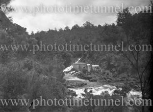 Powerhouse at Cataract Gorge, Launceston, Tasmania, January 4, 1937.