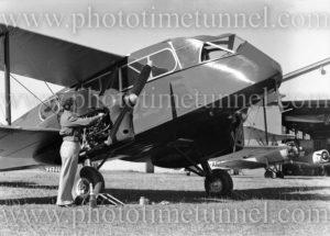 De Havilland Dragon aircraft at Newcastle, NSW, July 3, 1946.