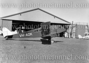De Havilland Dragon aircraft at Newcastle, NSW, July 3, 1946. (2)