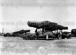 Mustang fighter aircraft newly returned from Japan, en route to Williamtown RAAF base via Stockton, January 15, 1949. (2)