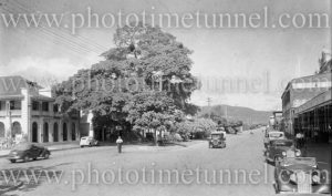 Street scene in Cairns, Queensland, circa 1940s.