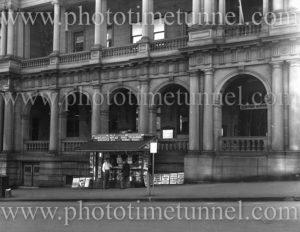 Brown's news stand, Bolton Street, Newcastle, NSW, circa 1960s.