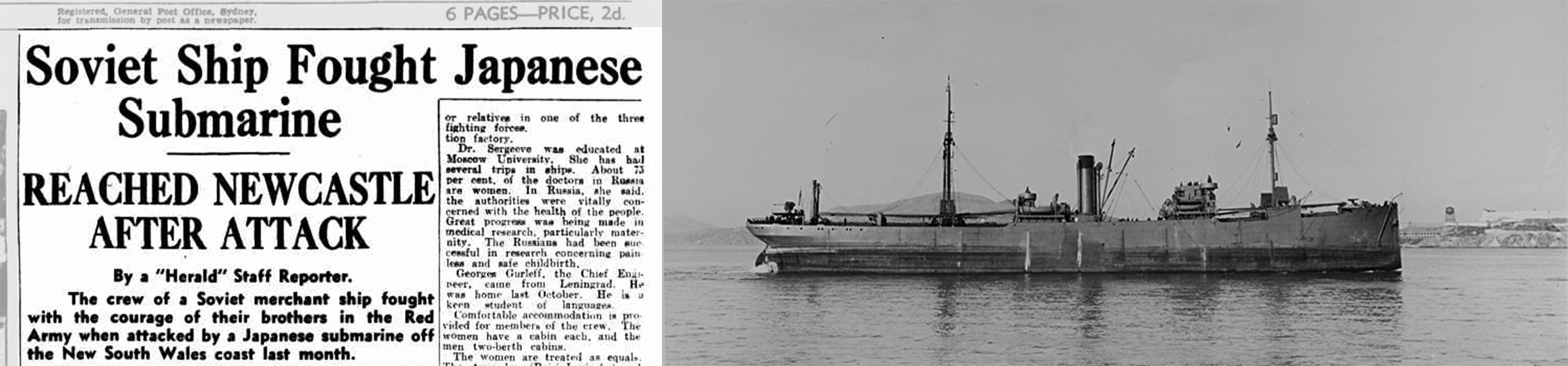 Read more about the article The Wellen: Soviet ship in Newcastle, NSW, 1942
