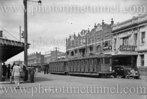 Electric tram in Maitland Road, Mayfield (Newcastle), NSW, April 19, 1947.