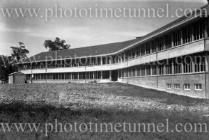 Rankin Park Hospital, New Lambton Heights (Newcastle), NSW, before its opening, April 14, 1947.