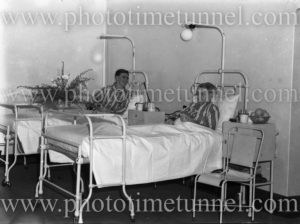 Patients in Rankin Park Hospital, New Lambton Heights (Newcastle), NSW, at the time of its opening, June 12, 1947. (2)
