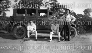 Triangle taxi cab, NSW, circa 1930.