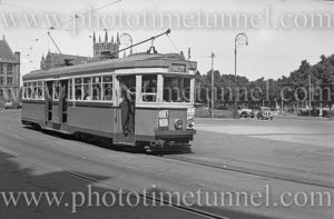 R-class tram in Queens Square, Sydney, NSW, March 3, 1948.