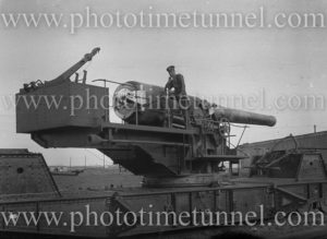 British 9.2 inch railway gun, circa 1919.