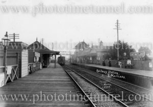 East Maitland Railway Station, circa 1900. Photo by Charles Kerry.