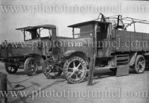 German motor lorries, Bonn, Germany, 1919.
