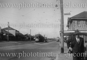 Corner of Tudor and Lawson Streets, Hamilton (Newcastle), NSW, April 24, 1948.