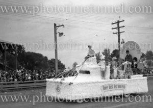 David Cohen & Co float at Maitland Showground during Back to Maitland celebrations, November 10, 1935. (2)