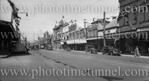 Hunter Street, Newcastle (NSW), during 150th anniversary celebrations, September 9, 1947. (2)